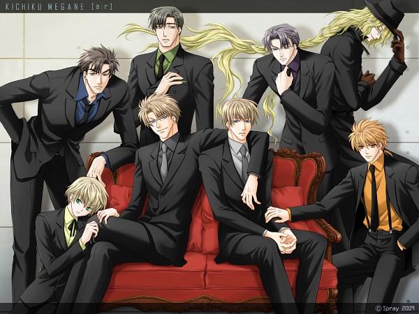 Tags: Anime, Spray, Kichiku Megane, Honda Kenji, Katagiri Minoru, Mr. R, Mido Takanori, Aki Suhara, Saeki Katsuya, Taichi Igarashi, Wallpaper