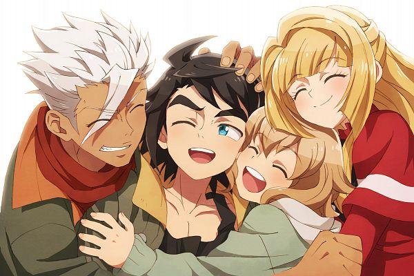 Tags: Anime, Pixiv Id 4976363, Kidou Senshi Gundam: Tekketsu no Orphans, Kudelia Aina Bernstein, Orga Itsuka, Mikazuki Augus, Atra Mixta, Group Hug, Pixiv, Mobile Suit Gundam: Iron-blooded Orphans
