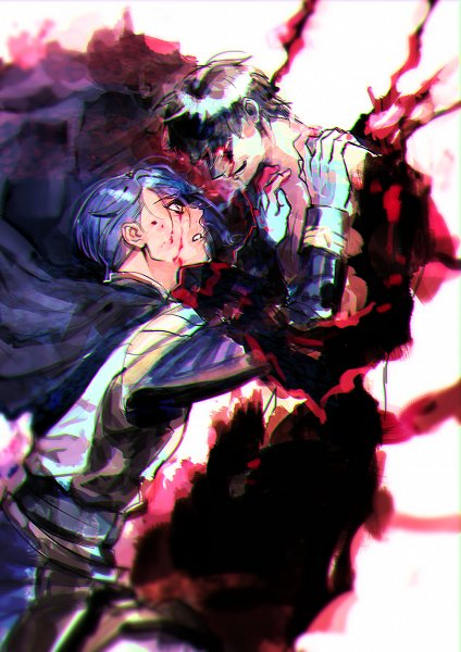 Tags: Anime, Pixiv Id 9115542, Kidou Senshi Gundam: Tekketsu no Orphans, Ein Dalton, Gaelio Bauduin, Blood Tears, Fanart, Fanart From Pixiv, Pixiv, Mobile Suit Gundam: Iron-blooded Orphans