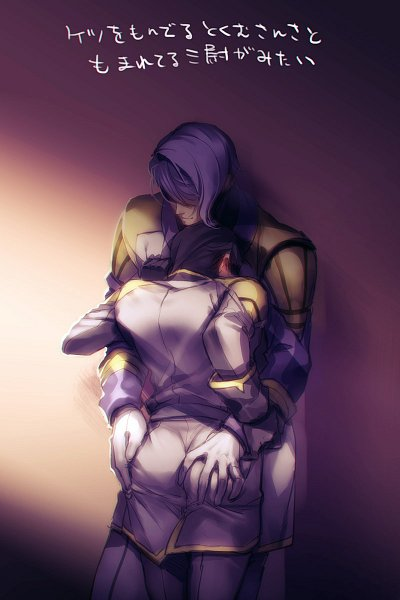 Tags: Anime, Pixiv Id 15831807, Kidou Senshi Gundam: Tekketsu no Orphans, Ein Dalton, Gaelio Bauduin, Hand on Butt, Gray Outfit, Fanart From Pixiv, Pixiv, Fanart, Mobile Suit Gundam: Iron-blooded Orphans