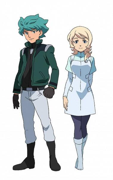 Tags: Anime, Kidou Senshi Gundam AGE, Flit Asuno, Emily Amonde, Artist Request, Official Art, Mobile Suit Gundam Age