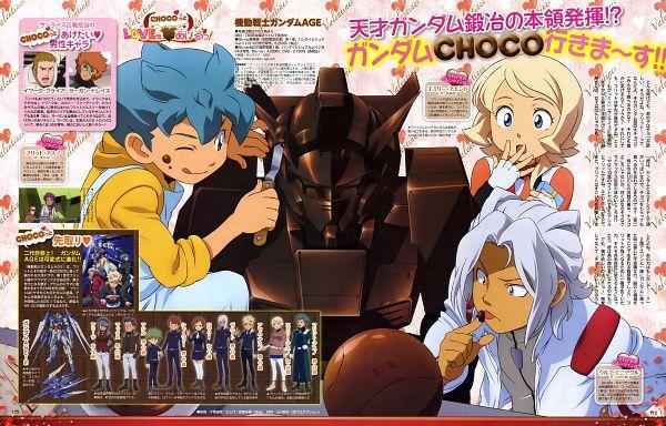 Tags: Anime, Kidou Senshi Gundam AGE, Woolf Enneacle, Flit Asuno, Emily Amonde, Official Art, Mobile Suit Gundam Age
