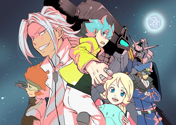 Tags: Anime, Pixiv Id 2891267, Kidou Senshi Gundam AGE, Flit Asuno, Emily Amonde, Gundam Age-1, Woolf Enneacle, Mobile Suit Gundam Age