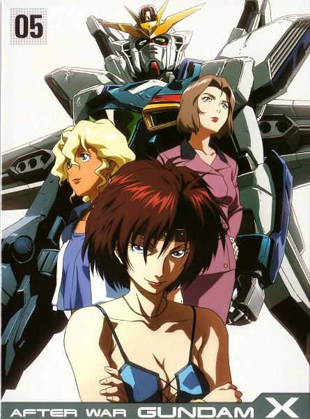 Tags: Anime, Nishimura Nobuyoshi, Sunrise (Studio), Kidou Shinseiki Gundam X, Ennil El, Sala Tyrrell, Tonya Malme, Official Art, Scan, DVD (Source), After War Gundam X