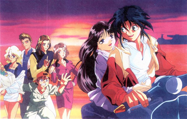 Tags: Anime, Nishimura Nobuyoshi, Sunrise (Studio), Kidou Shinseiki Gundam X, Witz Sou, Garrod Ran, Roybea Loy, Sala Tyrrell, Tonya Malme, Tiffa Adill, Scan, Official Art, After War Gundam X