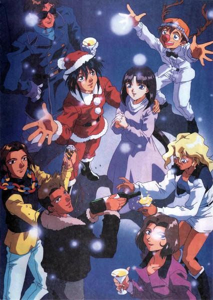 Tags: Anime, Nishimura Nobuyoshi, Sunrise (Studio), Kidou Shinseiki Gundam X, Jamil Neate, Sala Tyrrell, Tonya Malme, Witz Sou, Tiffa Adill, Roybea Loy, Garrod Ran, Party, Scan, After War Gundam X