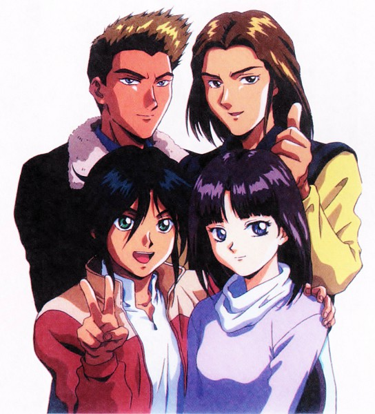 Tags: Anime, Nishimura Nobuyoshi, Sunrise (Studio), Kidou Shinseiki Gundam X, Witz Sou, Garrod Ran, Roybea Loy, Tiffa Adill, Scan, Official Art, After War Gundam X