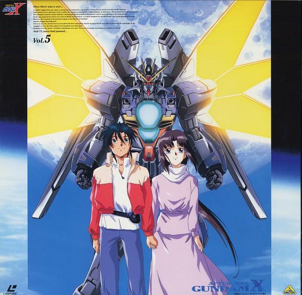 Tags: Anime, Nishimura Nobuyoshi, Sunrise (Studio), Kidou Shinseiki Gundam X, Tiffa Adill, Garrod Ran, Scan, Official Art, After War Gundam X