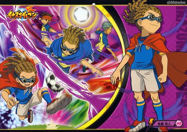 Tags: Anime, Inazuma Eleven, Domon Asuka, Kidou Yuuto, Endou Mamoru, Official Art, Yuuto Kidou