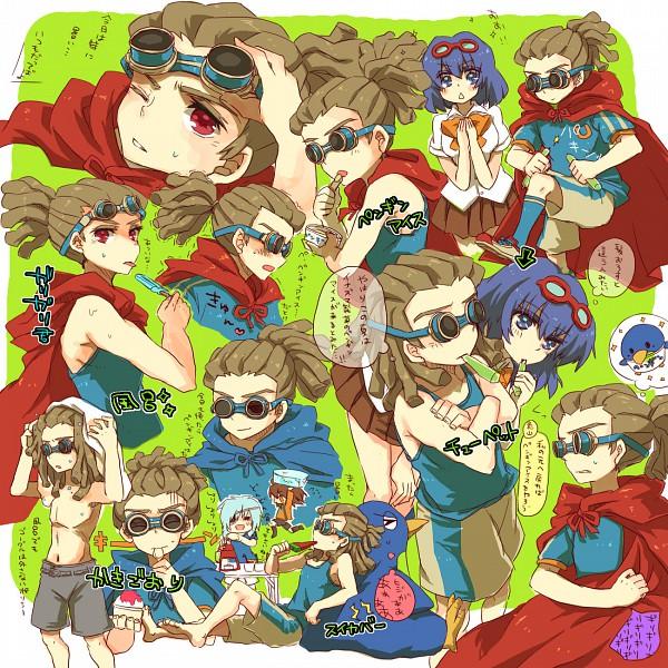 Tags: Anime, Fuji Saya, Inazuma Eleven, Kidou Yuuto, Genda Koujirou, Sakuma Jirou, Otonashi Haruna, Fanart, Pixiv, Yuuto Kidou