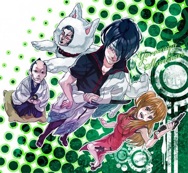 Tags: Anime, Pixiv Id 376671, Gintama, Takechi Henpeita, Okada Nizou, Kijima Matako, Takasugi Shinsuke, Shimura Shinpachi (Cosplay), Kagura (Gintama) (Cosplay), Sakata Gintoki (Cosplay), Sadaharu (Cosplay), Pixiv, Kiheitai