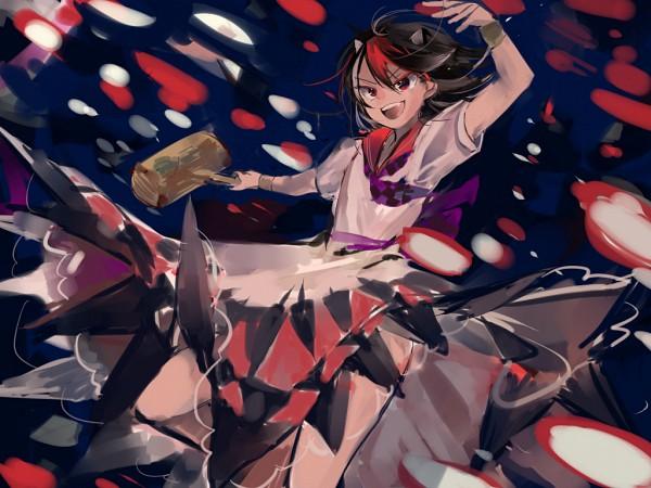 Tags: Anime, Pixiv Id 6647344, Touhou, Impossible Spell Card, Kijin Seija, Hammer (Tool), Miracle Mallet, Pixiv, Wallpaper, Fanart From Pixiv, Fanart, PNG Conversion, Seija Kijin