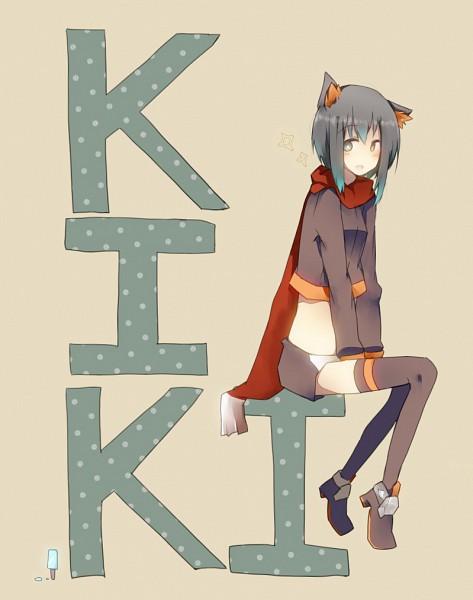 Tags: Anime, Pixiv Id 121508, Kiki-chan, PNG Conversion, Pixiv