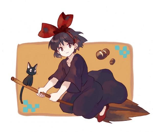 Tags: Anime, Studio Ghibli, Majo no Takkyuubin, Jiji (Majo no Takkyuubin), Kiki (Majo no Takkyuubin)