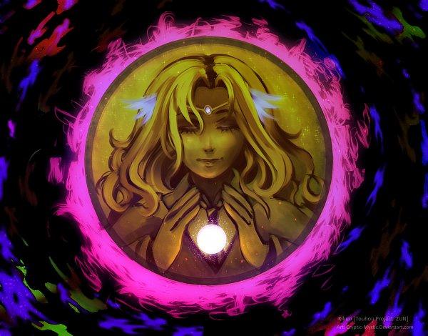 Tags: Anime, Cryptic-Mystic, Highly Responsive to Prayers, Touhou, Kikuri, Fanart From DeviantART, deviantART, PC-98 Touhou Era, Fanart
