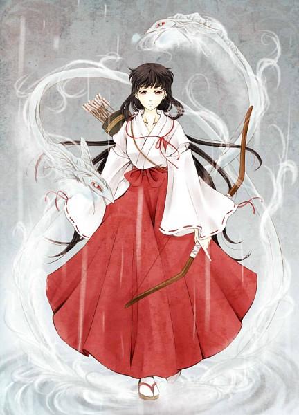 Tags: Anime, Pixiv Id 3848581, InuYasha, Kikyo (InuYasha), Shinidamachuu, Quiver, Mobile Wallpaper