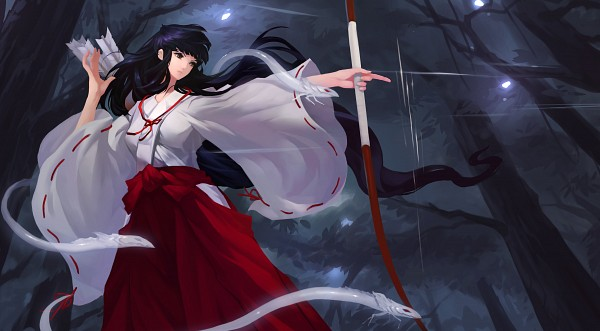 Tags: Anime, Grandia Lee, InuYasha, Kikyo (InuYasha), Shinidamachuu, Wallpaper, Facebook Cover