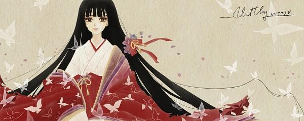 Tags: Anime, Nmttak, InuYasha, Kikyo (InuYasha), Junihitoe, Facebook Cover, Fanart