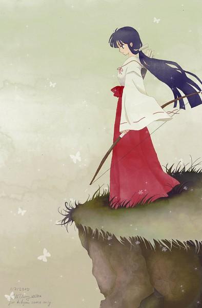 Tags: Anime, Nmttak, InuYasha, Kikyo (InuYasha), Fanart, Mobile Wallpaper