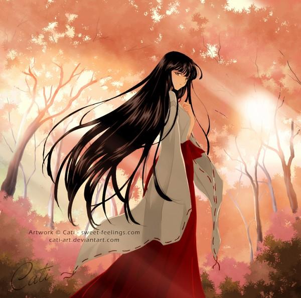 Tags: Anime, Cati-art, InuYasha, Kikyo (InuYasha), Fanart