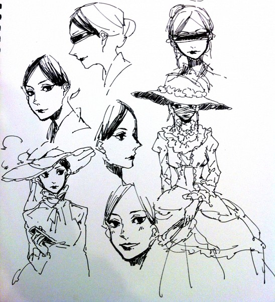 Tags: Anime, Mayer, Hunter x Hunter, Kikyo Zoldyck, Pixiv, Sketch, Fanart