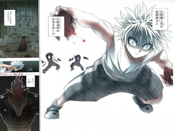 Tags: Anime, Togashi Yoshihiro, Hunter x Hunter, Killua Zoldyck, Heart (Organ), Colorization