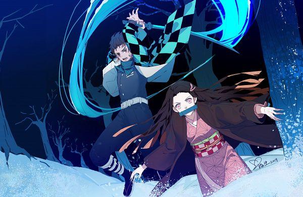 Tags: Anime, Pixiv Id 4328690, Kimetsu no Yaiba, Kamado Tanjirou, Kamado Nezuko, Demon Slayer: Kimetsu No Yaiba