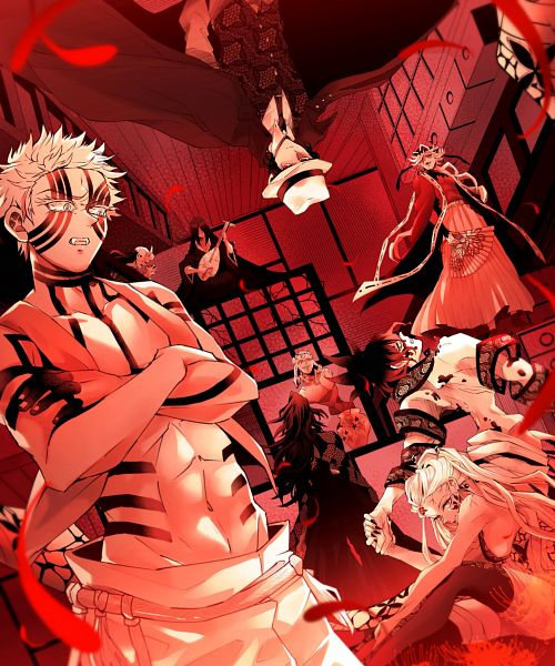 Tags: Anime, Pixiv Id 4739473, Kimetsu no Yaiba, Douma (Kimetsu no Yaiba), Daki (Kimetsu no Yaiba), Nakime (Kimetsu no Yaiba), Kibutsuji Muzan, Gyokko (Kimetsu No Yaiba), Akaza (Kimetsu no Yaiba), Hantengu (Kimetsu no Yaiba), Kokushibou, Gyuutarou (Kimetsu no Yaiba), Fanart, Demon Slayer: Kimetsu No Yaiba