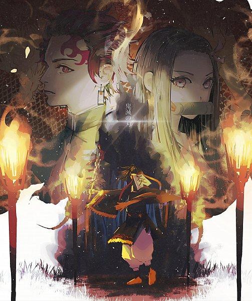 Tags: Anime, Pixiv Id 14048951, Kimetsu no Yaiba, Kamado Tanjirou, Kamado Nezuko, Pixiv, Fanart, Fanart From Pixiv, Demon Slayer: Kimetsu No Yaiba