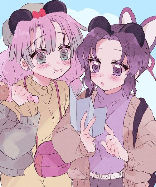 Tags: Anime, Pixiv Id 43819543, Kimetsu no Yaiba, Kanroji Mitsuri, Kochou Shinobu, Demon Slayer: Kimetsu No Yaiba