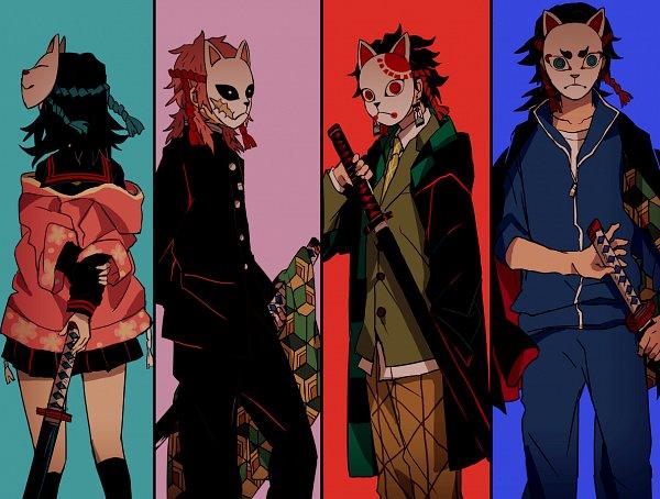 Tags: Anime, Misoan, Kimetsu no Yaiba, Sabito (Kimetsu no Yaiba), Tomioka Giyuu, Kamado Tanjirou, Makomo (Kimetsu no Yaiba), Demon Slayer: Kimetsu No Yaiba