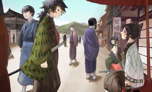 Tags: Anime, Pixiv Id 43258431, Kimetsu no Yaiba, Kochou Shinobu, Tomioka Giyuu, Pixiv, Demon Slayer: Kimetsu No Yaiba