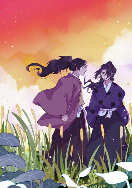 Tags: Anime, Pixiv Id 2262385, Kimetsu no Yaiba, Tsugikuni Yoriichi, Tsugikuni Michikatsu, Demon Slayer: Kimetsu No Yaiba