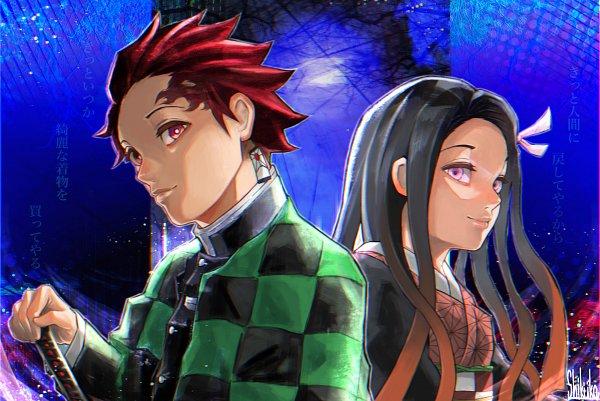 Tags: Anime, Pixiv Id 30650226, Kimetsu no Yaiba, Kamado Tanjirou, Kamado Nezuko, Demon Slayer: Kimetsu No Yaiba