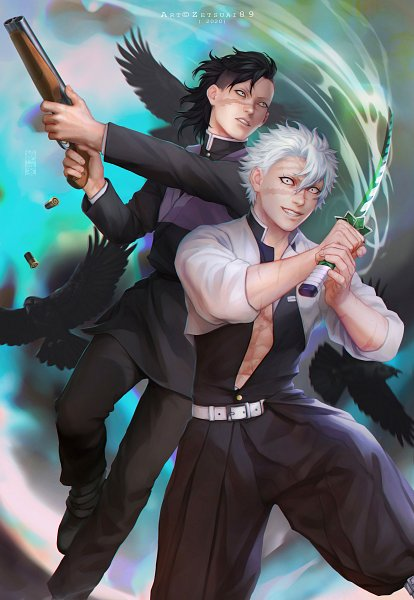 Tags: Anime, Zetsuai89, Kimetsu no Yaiba, Shinazugawa Genya, Shinazugawa Sanemi, Fanart From DeviantART, deviantART, Fanart, Demon Slayer: Kimetsu No Yaiba