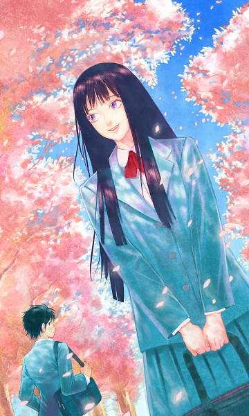 Tags: Anime, Diolemonde, Kimi ni Todoke, Kazehaya Shouta, Kuronuma Sawako, Pixiv, Fanart, Mobile Wallpaper, From Me To You