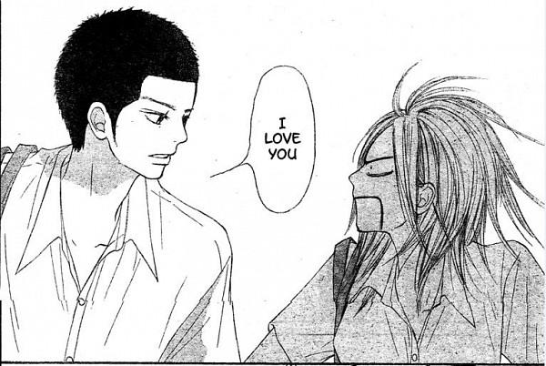 Tags: Anime, Shiina Karuho, Kimi ni Todoke, Sanada Ryuu, Yoshida Chizuru, Text: I Love You, Confession, Manga Page, Scan, From Me To You