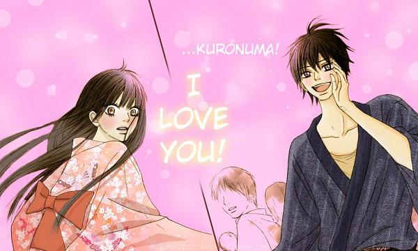 Tags: Anime, Shiina Karuho, Kimi ni Todoke, Kazehaya Shouta, Kuronuma Sawako, Confession, Text: I Love You, Colorization, From Me To You