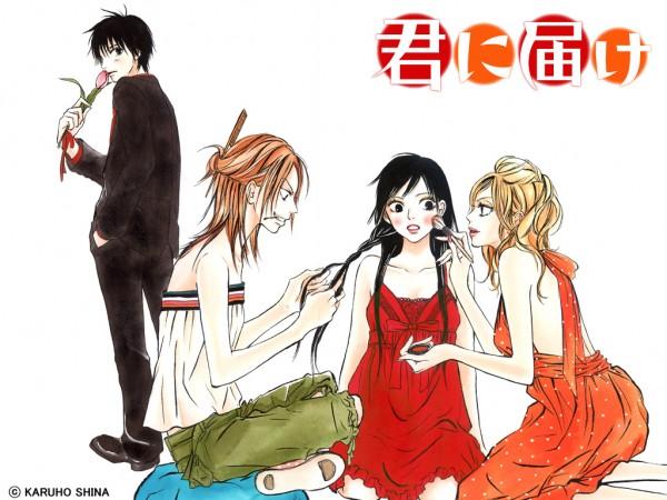 Tags: Anime, Shiina Karuho, Kimi ni Todoke, Kazehaya Shouta, Yano Ayane, Yoshida Chizuru, Kuronuma Sawako, Wallpaper, Official Art, Official Wallpaper, From Me To You