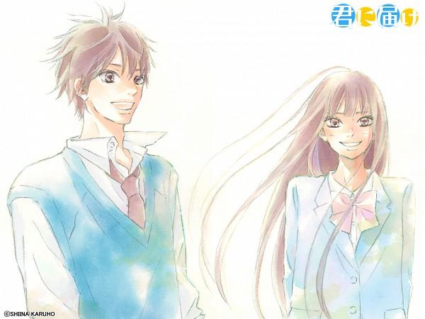 Tags: Anime, Shiina Karuho, Kimi ni Todoke, Kazehaya Shouta, Kuronuma Sawako, Official Art, Official Wallpaper, Wallpaper, From Me To You