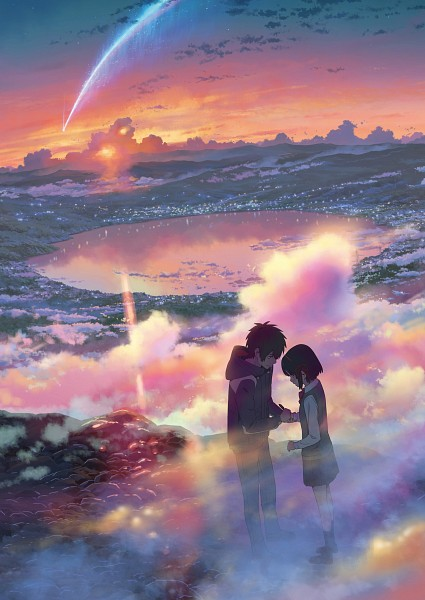 Tags: Anime, CoMix Wave Films, Kimi no Na wa., Miyamizu Mitsuha, Tachibana Taki, Official Art, Your Name.