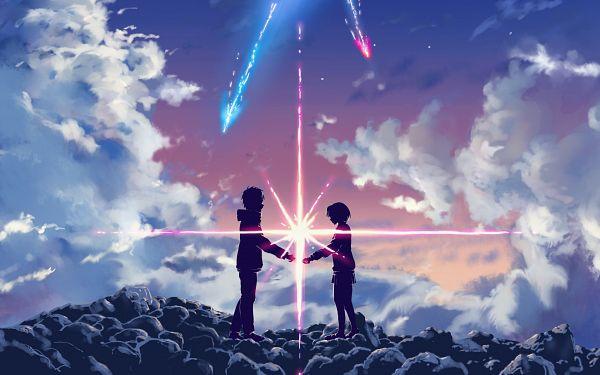 Tags: Anime, Kimi no Na wa., Miyamizu Mitsuha, Tachibana Taki, Artist Request, Your Name.