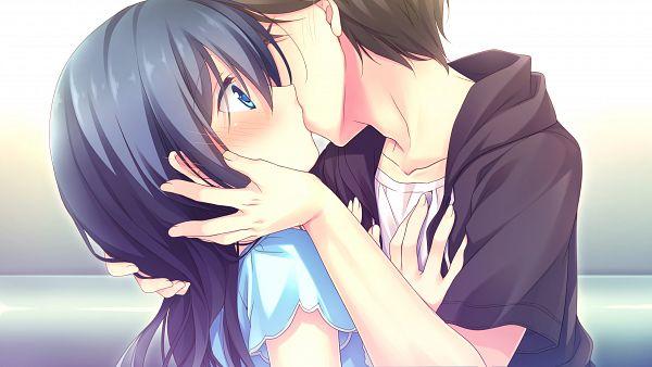 Tags: Anime, Motomiya Mitsuki, Alcot Honey Comb, Kimi no Tonari de Koishiteru!, Sekiya Akito, Hoshino Nagisa, Surprise Kiss, HD Wallpaper, Wallpaper, CG Art