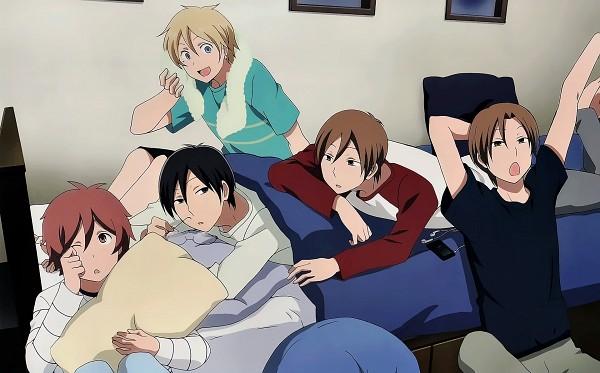 Tags: Anime, Kimi to Boku., Tachibana Chizuru, Matsuoka Shun, Asaba Yuta, Asaba Yuki, Tsukahara Kaname, Official Art, Wallpaper, You And Me
