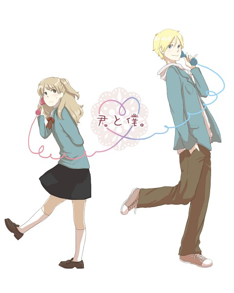 Tags: Anime, Pixiv Id 672520, Kimi to Boku., Sato Masaki, Tachibana Chizuru, Fanart, You And Me