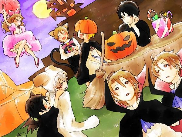 Tags: Anime, Kimi to Boku., Asaba Yuki, Tsukahara Kaname, Tachibana Chizuru, Akira (Kimi to Boku.), Matsuoka Shun, Azuma Koichi, Asaba Yuta, Sato Masaki, Vampire Costume, Asaba Twins, You And Me