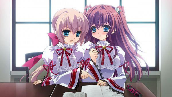 Tags: Anime, Cube (ALMA), ALMA (Studio), Kimi to Boku to Eden no Ringo, Kaburaki Ryuusei, Asakura Karen, Wallpaper, CG Art