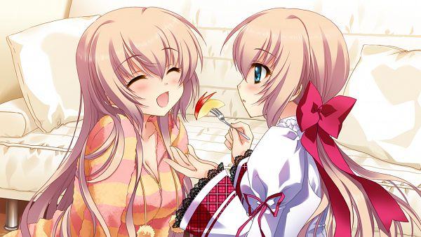 Tags: Anime, CARNELIAN, Cube (ALMA), ALMA (Studio), Kimi to Boku to Eden no Ringo, Kaburaki Ryuusei, Kaburaki Runa, Wallpaper, CG Art