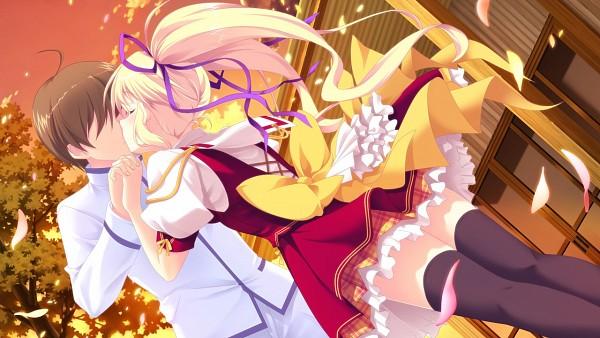 Tags: Anime, Satou Satoru, PeasSoft, Kimi wo Aogi Otome wa Hime ni, Hoshikawa Maiki, Kanamori Satoshi, Wallpaper, CG Art