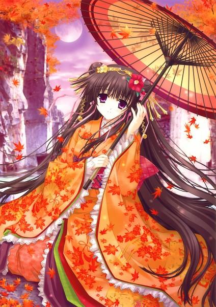 Tags: Anime, Kimizuka Aoi, Eshi 100-Nin Ten 02, Lake, Scan, Original
